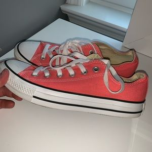 Pink Converse Woman's Low Top Shoes